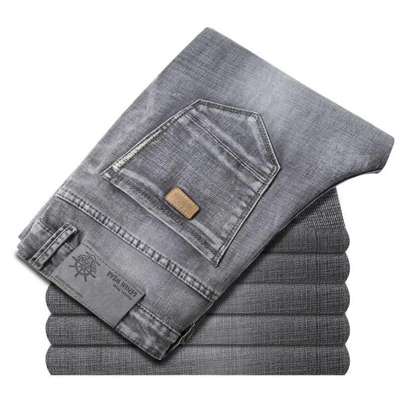 Marke Jeans Exklusive Design Berühmte Casual Denim Jeans Männer Gerade Dünne Nahen Taille Stretch Männer Jeans Vaqueros Hombre