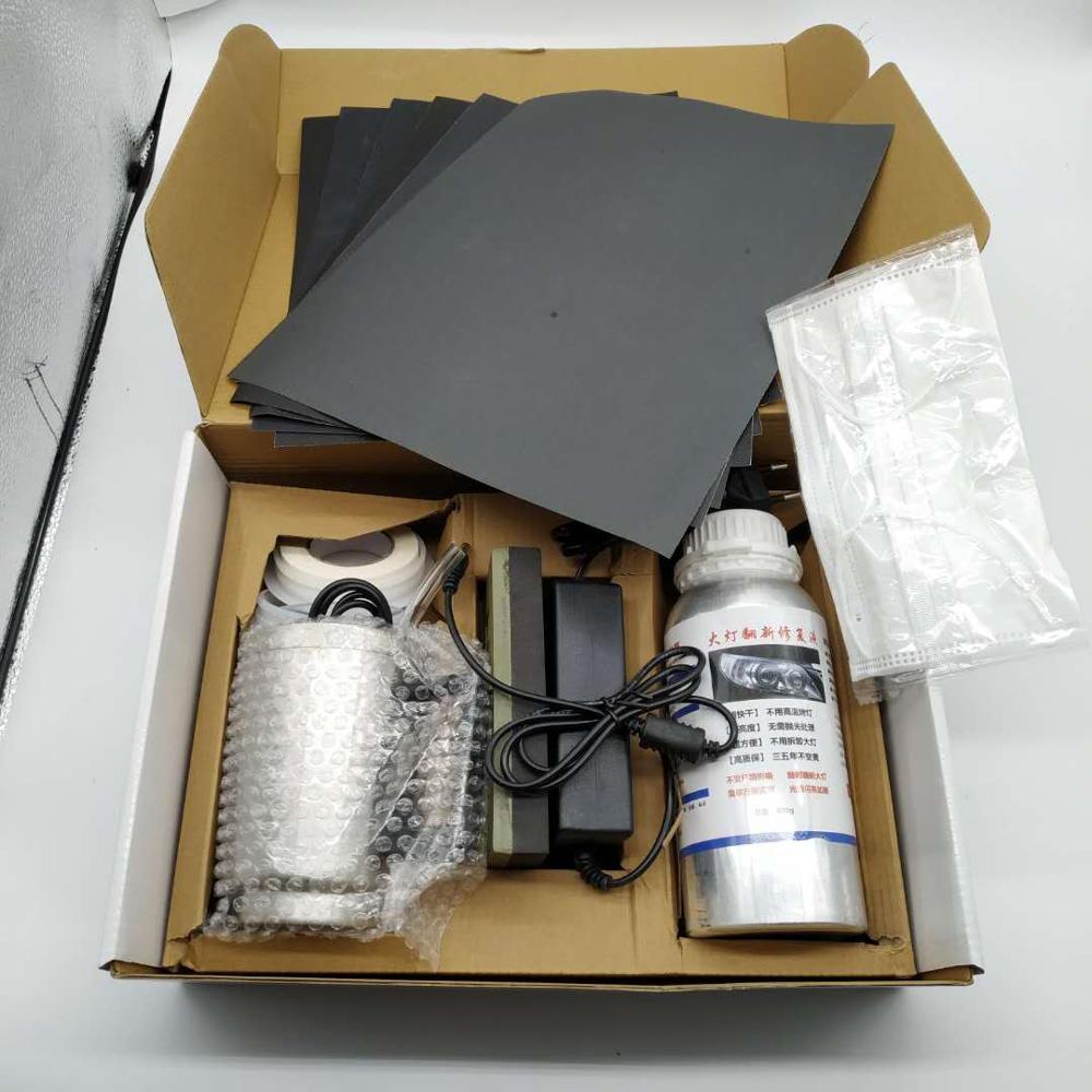 Car Headlight Polish Restoration Kit Headlight Polishing Cleaning Kit Anti-Scratch Hydrophobic Car Headlight Repair Polish