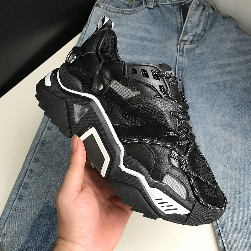 Casual Platform Shoes Women Chunky Sneakers Fashion Dad Shoes For Women Spring Autumn White Black Shoes Sneaker Vulcanize Shoes