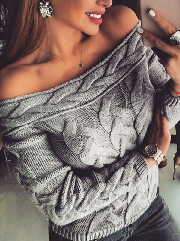 Модный осенне-зимний летний женский пуловер, вязаный свитер с длинными рукавами, повседневная одежда для отдыха и повседневной жизни, женск...