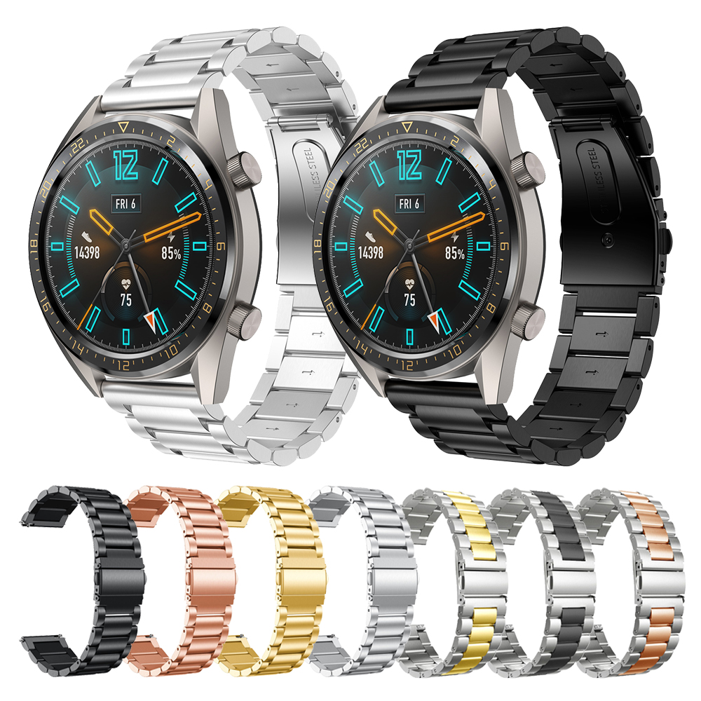 Metal Stainless Steel Strap For HUAWEI WATCH GT Active 46mm/Elegant 42 Band For HUAWEI WATCH 2/Honor Magic Bands Loop Watchband