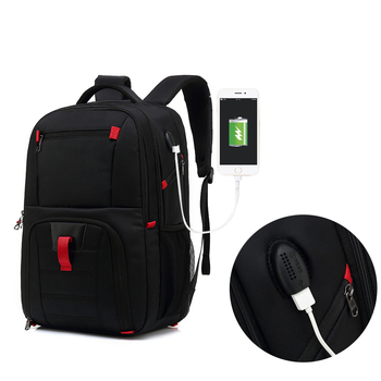 17.3Inch Fashion Man Laptop Backpack Computer Bag For Men Women Usb Charging Business Travel College Schoolbag