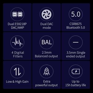 Image 2 - Máy Nghe Nhạc Shanling UP4 Khuếch Đại Dual ES9218P Đắc/AMP Di Động Hifi CSR8675 Bluetooth 5.0 Cân Bằng Đầu Ra Bộ Khuếch Đại Tai Nghe