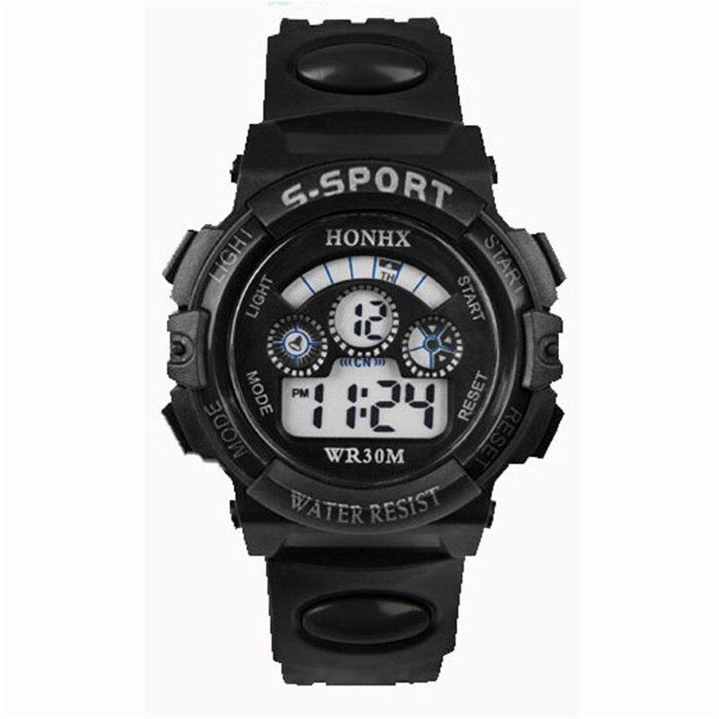 Waterproof Children Boy Digital LED Quartz Alarm Date Sports Wrist Watch Reloj Kids Kids New Arrival Freeshipping Hot Sales Fi