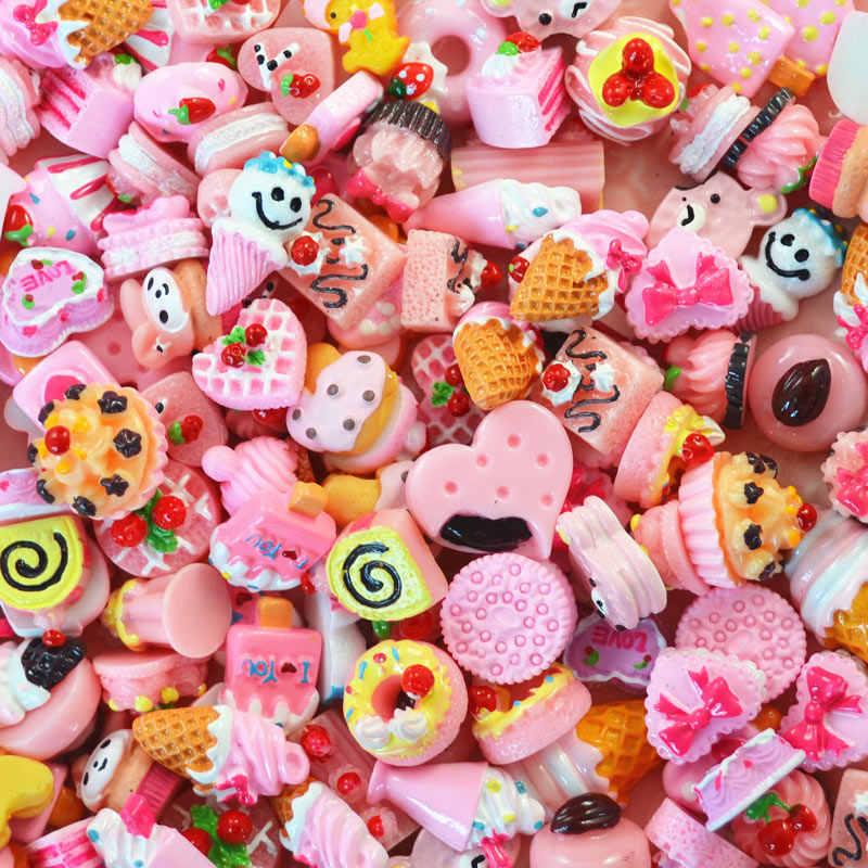 10 sztuk miniaturowe Mini jedzenie owoce i warzywa kuchnia zabawki ciasto cukierki czekoladowe zabawki dla lalek dzieci Kid kuchnia dziewczyny zabawki E