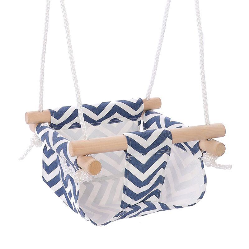 Baby Swing Hammock Seat Safety Hanging Chair Swinging Basket Kindergarten Toy B36E
