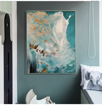 Free Shipping Canvas Modern Hand Painted Canvas Painting for Living Room Abstract Green Color Oil Painting Home Decoration yhhp hand painted animal canvas oil painting hair donkey