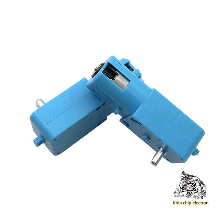 5 Pcs/ Lot Metal Gear Robot Intelligent Vehicle Speed Reduction Motor TT Motor Single Shaft Finished Product 1:90 Blue