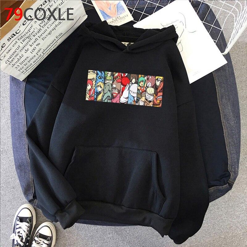 Hot Japanese Anime Hoodies kakashi Akatsuki Graphic Sweatshirts Men Sasuke Streetwear Itachi Cartoon Fashion Tops Unisex Male 2