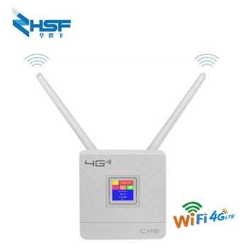 Unlocked 4G router external antenna WiFi hotspot wireless 3G 4G Wifi router WAN LAN RJ45 broadband CPE router with Cim card slot