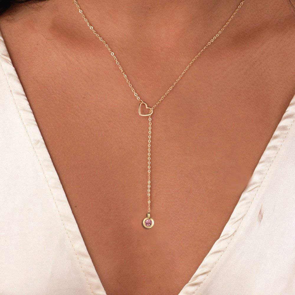 สแตนเลส Infinite 8 Heart CROSS บาร์สามเหลี่ยมรอบจี้สร้อยคอ Clavicle โซ่สร้อยคอผู้หญิงที่ดีที่สุดของขวัญ