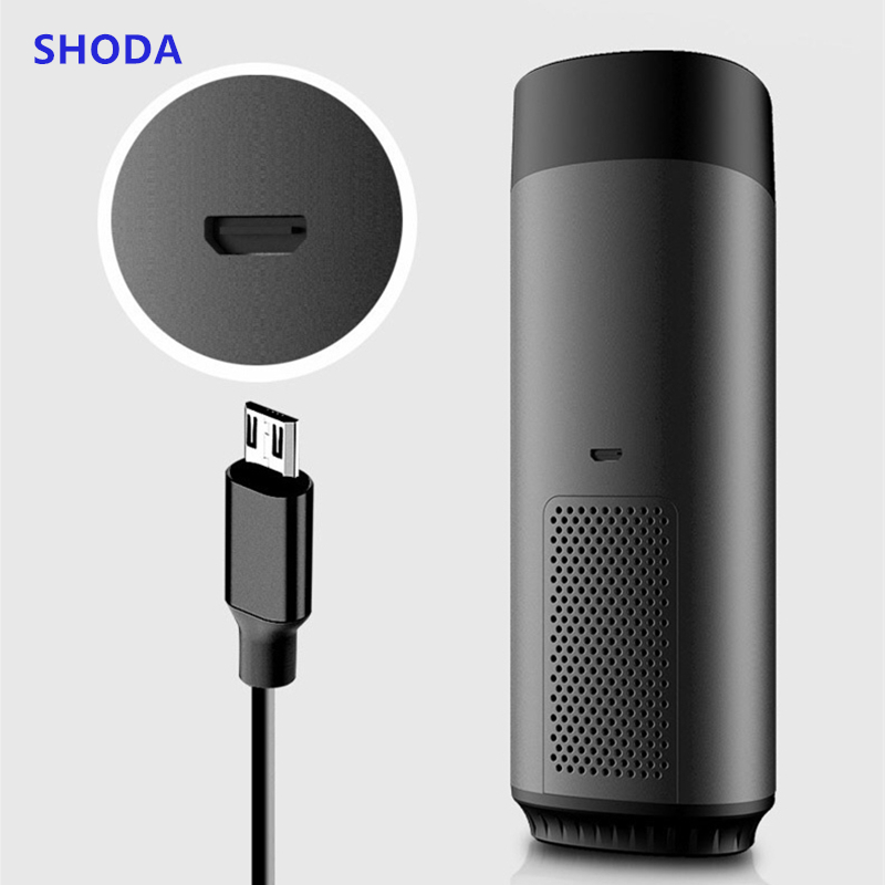 SHODA Car Air Purifier Cleaner with Negative Ion Hepa Filter Fresh Portable USB Aluminium Alloy Design Car Anion Purifiers