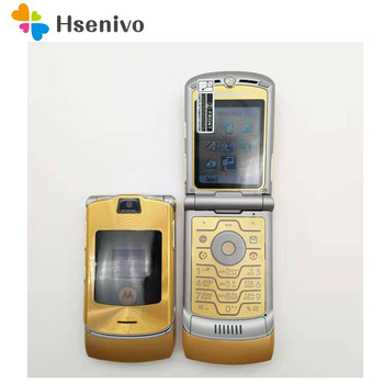 Original Motorola V3i DOLCE&GABBNNA Unlocked Original motorola Flip Razr V3i Mobile Cell Phone Refurbished Free shipping