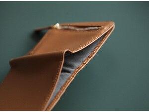 Image 2 - EMMA YAO orijinal deri cüzdan kadın moda tasarımcısı cüzdan kadın