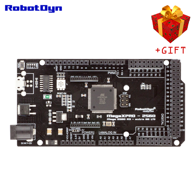 Mega XPro 2560 R3  extra 86 I/O, CH340C/ATmega2560 16AU, RGB LED, 5V