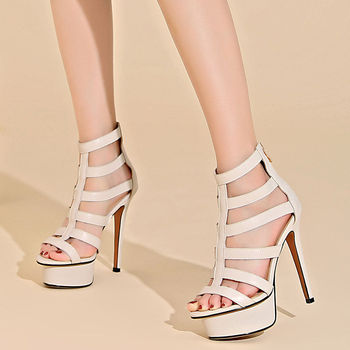 Brand 2020 New Arrivals Cow genuine leather extreme high heels party sexy summer party sandals women shoes