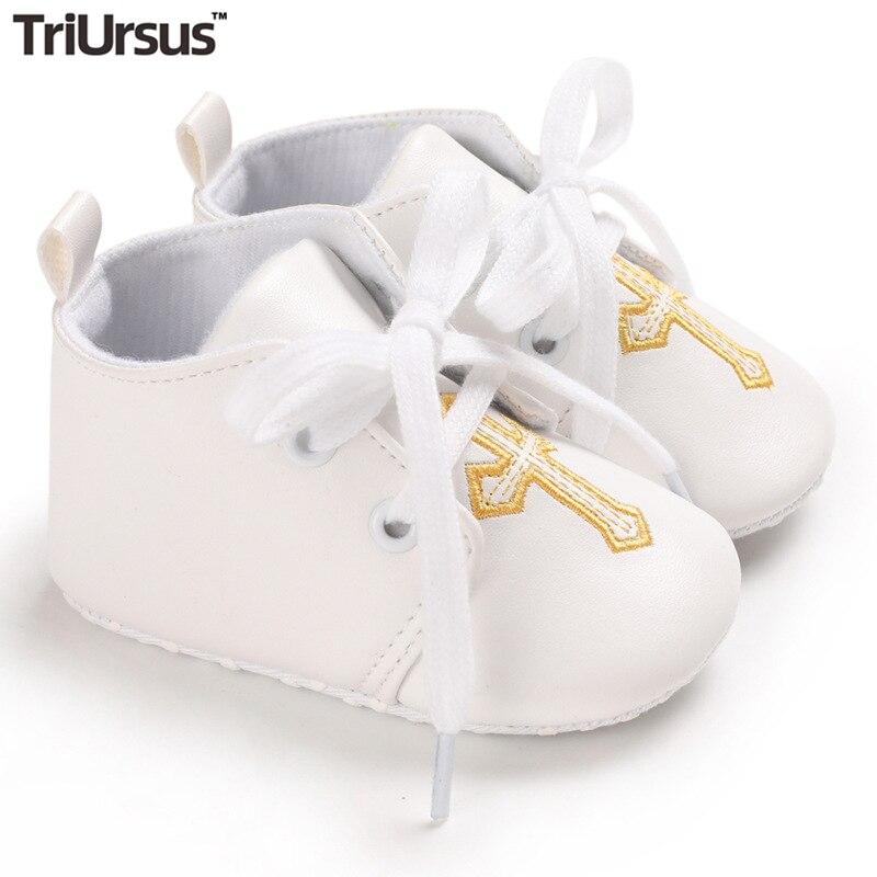 Triursus бренд для маленьких мальчиков и девочек для детей, начинающих ходить; Крестины белые весенне-осенняя одежда для новорожденных, для тех,...