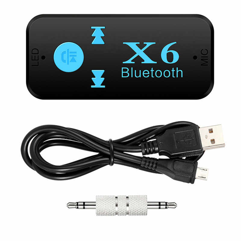 3 In 1 Bluetooth Car Kit V4.1 Bluetooth Receiver 3.5mm Aux + TF Card Reader + Handsfree Call Stereo Audio Receiver Music Adapter