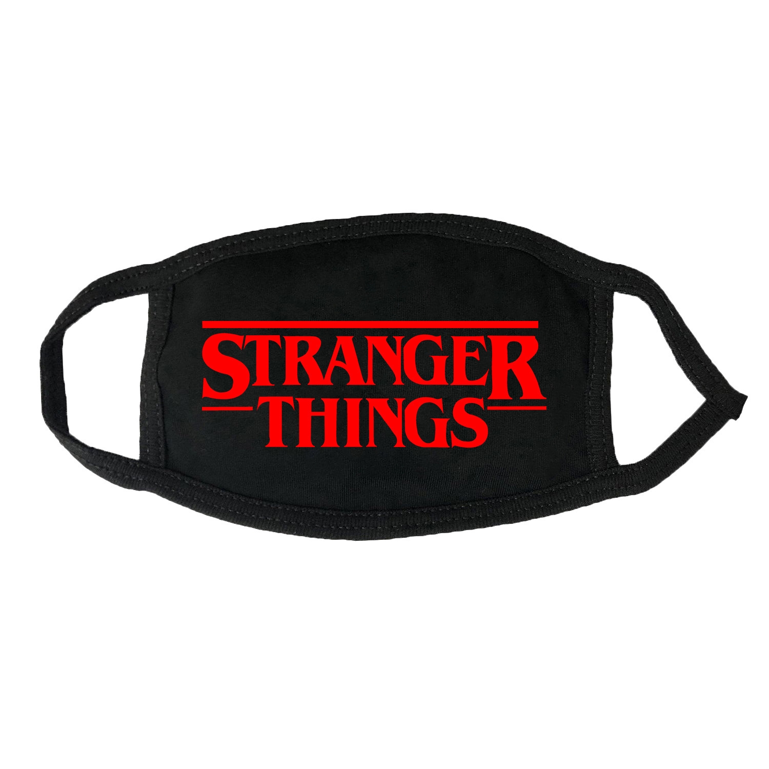 Stranger Things Mask Dustproof Defence Peculiar Smell Pure Cotton Solid Color Letter Printing Hanging Ear Type Mask