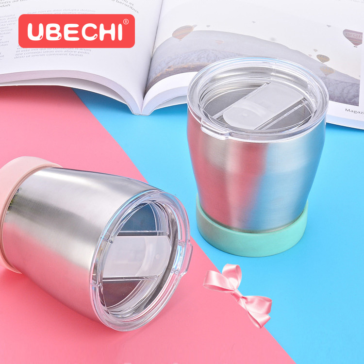 304 Double Layer Household Stainless Steel Cup Children Drinking Cup Insulated Cold Drinking Water Duo Yong Bei Baby Hot Cup