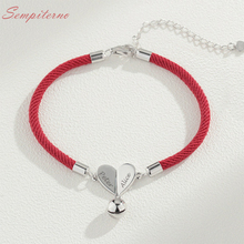 Red Rope Custom Couple Name Bracelets 925 Sterling Silver Charm For Making Bracelet Bangle DIY Jewelry Gift