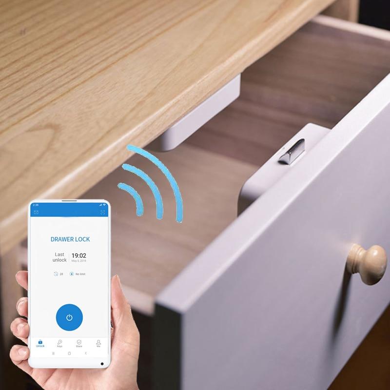 Новый БЕСКЛЮЧЕВОЙ Невидимый замок для шкафа дистанционное управление через приложение Bluetooth умный ящик Swtich Умный Замок безопасности Сейф д...