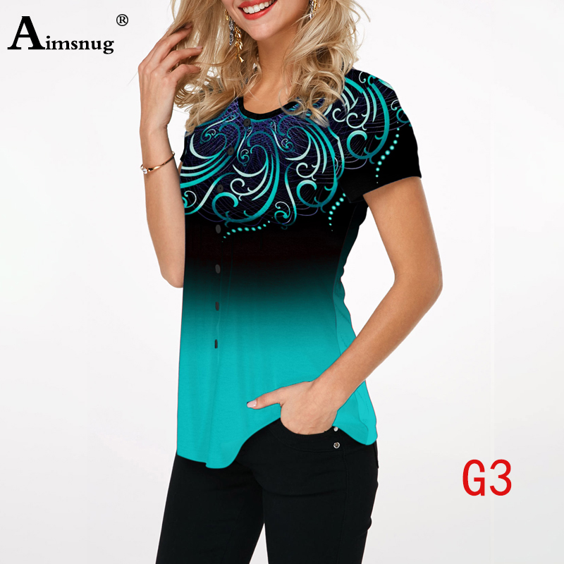 Hae955a7037db4d4c8848217426b7f104P - Plus size 4xl 5xl Women Fashion Print Tops Round Neck Short Sleeve Boho Tee shirts New Summer Female Casual Loose T-shirt