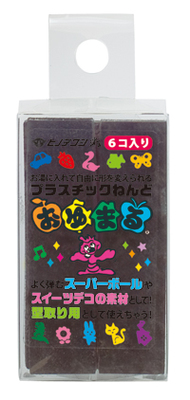 Make For Japan Oyumaru Plastic Resin / Free Resin / Turnover Resin Single Color 6 Pack