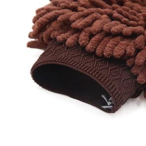Image 4 - UXCELL Microfiber Chenille Wash Mitt Mitten Home Kitchen Car Vehicle Dust Cleaning Glove Brown