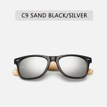 Retro Bamboo Wood Frame Polarized Sunglasses - UV400 13