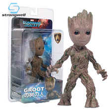 Strongwell Baby Groot Doll Tree Man Model Plastic PVC Marvel Guardians The Galaxy Avengers Decoration Figurine Kids Toy