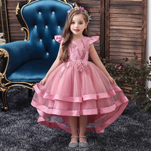 Dress For Girls Wedding Party Dresses Kids Princess Christmas Dress Children Girls Clothing Baby Girls Flower Striped New 2020