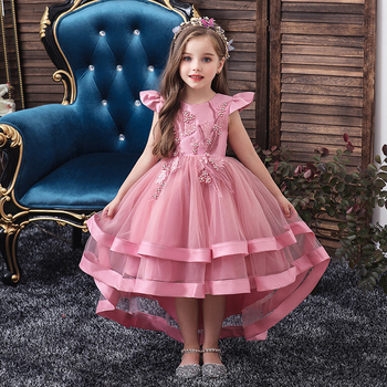Dress For Girls Wedding Party Dresses Kids Princess Christmas Dress Children Girls Clothing Baby Girls Flower Striped New 2020 w l monsoon baby girls dress with sashes 2017 autumn brand princess dress girls clothing flower kids dresses children clothes