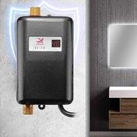3400 Вт 3 секунды нагрев мини Электрический Проточный мгновенный нагреватель воды кухонный кран дисплей температуры для кухни Showe