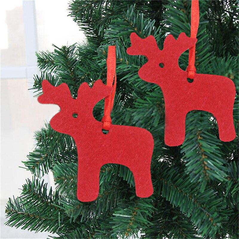 Нетканое Рождественское украшение, настенная подвесная елка, праздничный декор, подарок, Рождественская елка, украшения