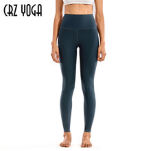 Crz yoga feminino velo térmico forrado leggings inverno quente cintura alta calças de yoga treino apertado-28 polegadas