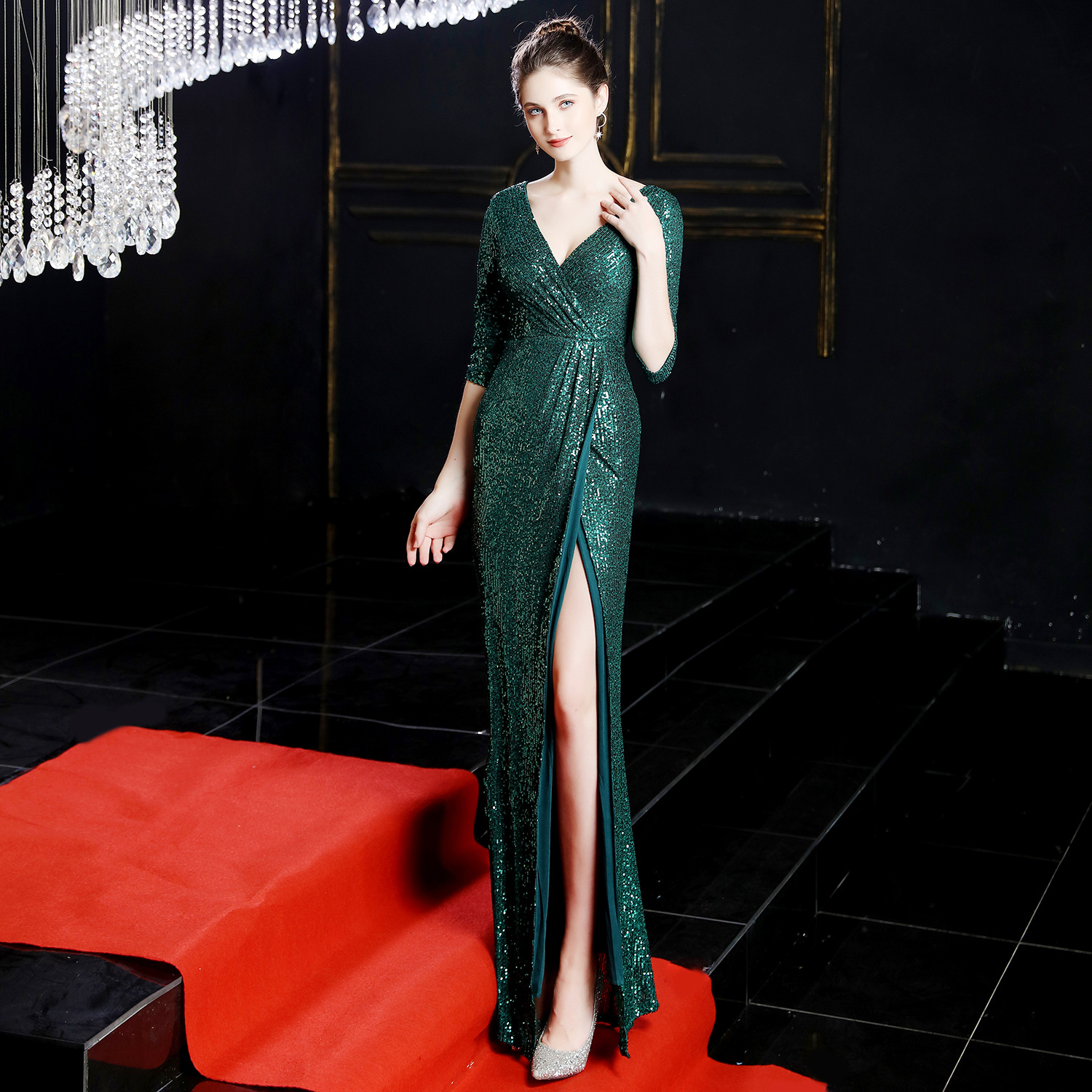 Image 2 - New Long Dresses Evening Formal Dresses Evening Gown Evening 