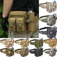 Bolso de hombro táctico militar al aire libre impermeable Oxford Molle bolsas de pesca senderismo bolsa hervidor bolsa Bolsillo bolsa de cintura
