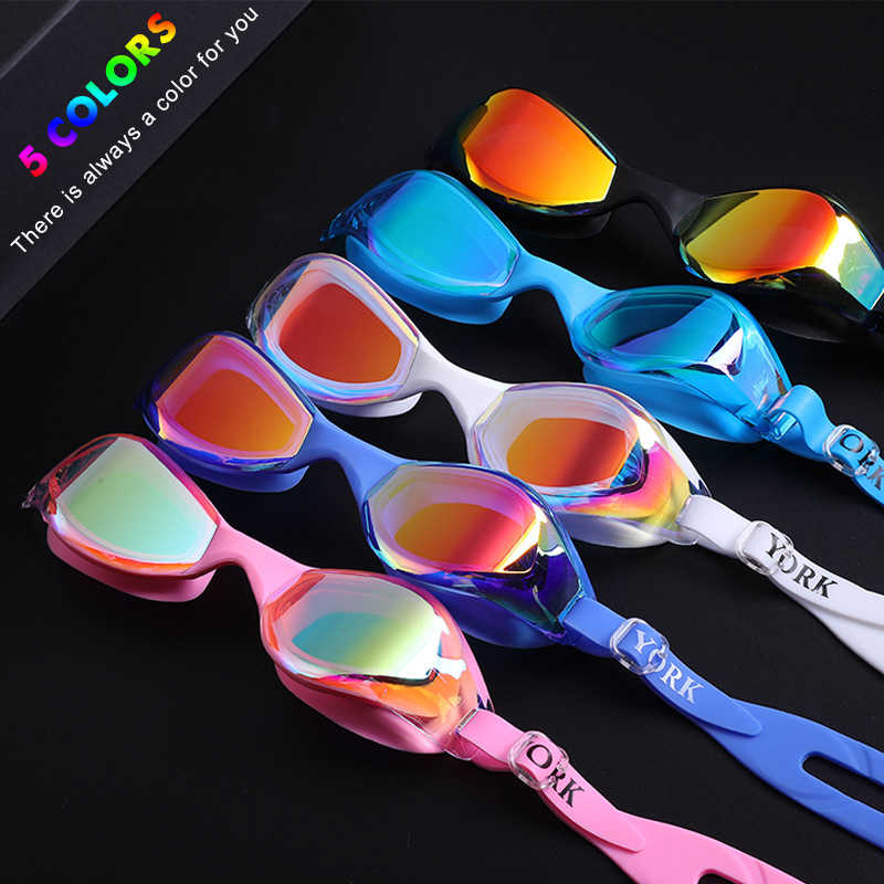 Professional Silica Gel Swimming Goggles Plating Anti-fog Waterproof UV Swimming Glasses Ergonomics Swim Glasses for Adult New