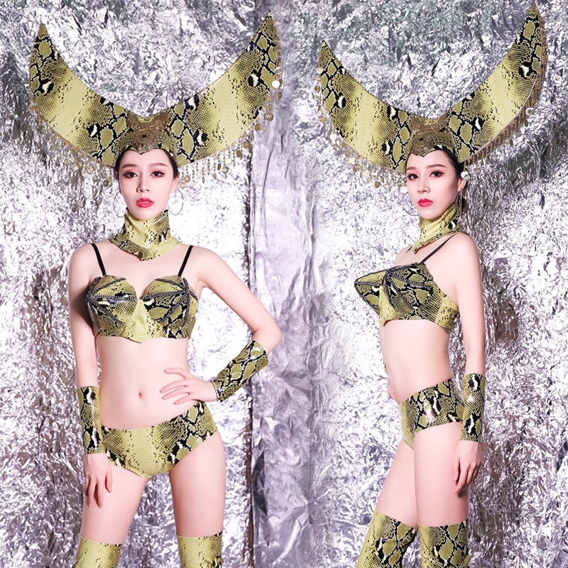 Jazz Dance Costumes Women Printing Pole Dance Performance Clothing Nightclub Dj Rave Outfit Ds Gogo Dancers Clothes DC3127