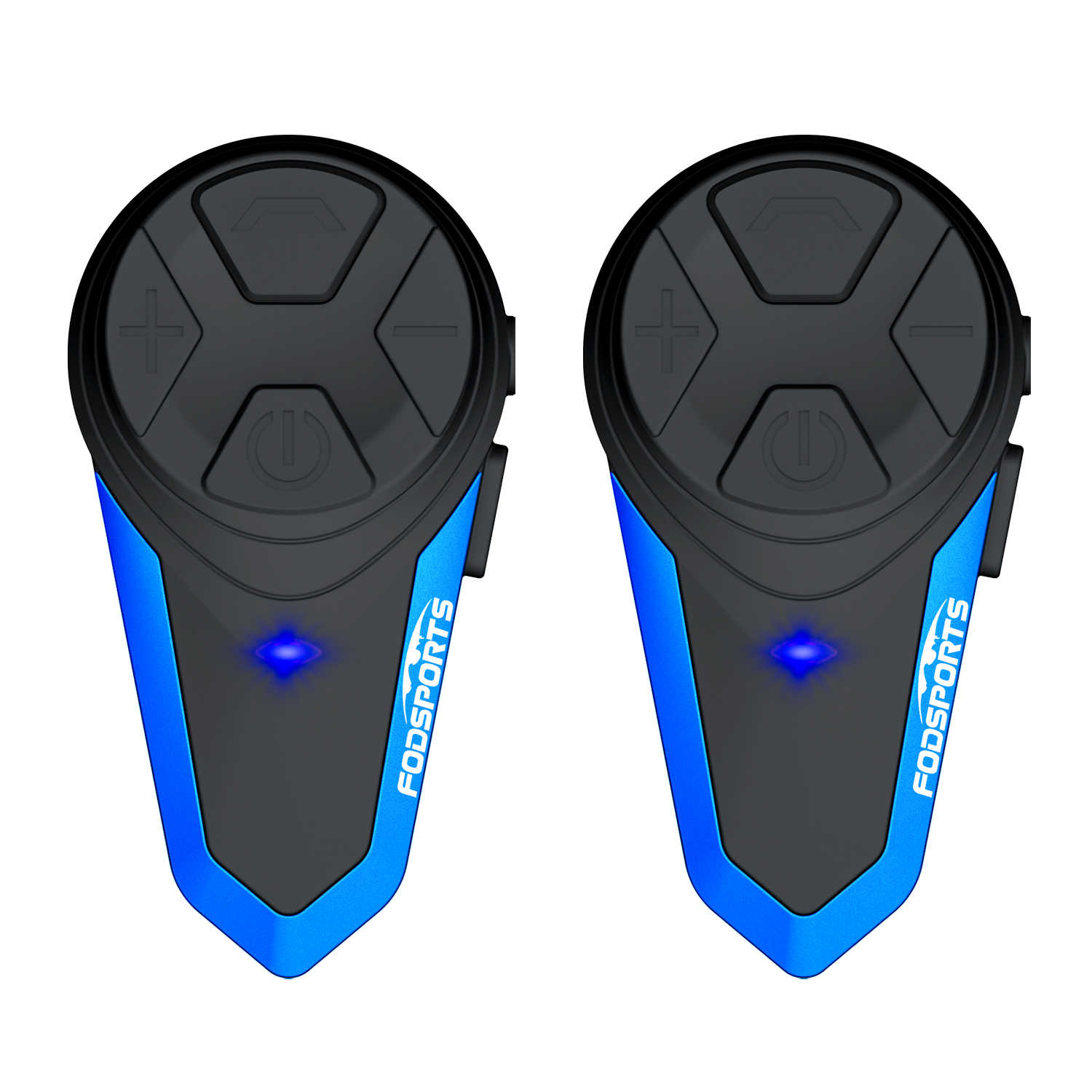 Fodsports 2 Pcs BT-S3 Motor Helm Intercom Moto Helm Bluetooth Headset Tahan Air Intercomunicador Bt Interphone FM
