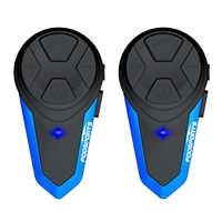 Fodsports 2 stücke BT-S3 Motorrad Helm Intercom Moto Helm Bluetooth Headset Wasserdichte Intercomunicador BT Sprech FM