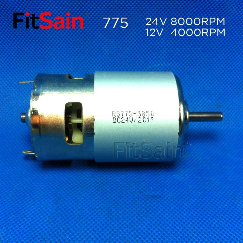 FitSain - motor 775 con soporte DC 24V 8000rpm eje 5mm Gran par de - Accesorios para herramientas eléctricas - foto 4