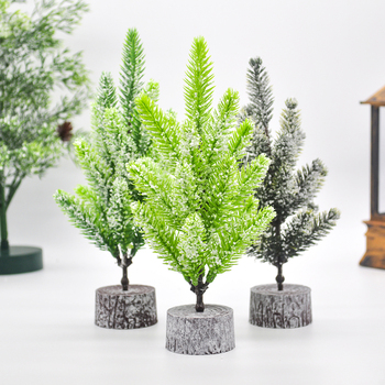 20CM White Snow Encrypted Green Tree Mini Artificial Christmas Tree Desktop Decoration New Year Home Decoration diy felt christmas tree new year gifts kids toys artificial tree wall hanging ornaments christmas decoration for home
