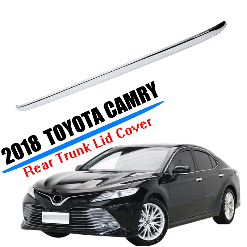 Rear Bumper Chrome Trim Rear Guard Bumper Strip High-qual For Toyota Camry 2018 2019 Accessories