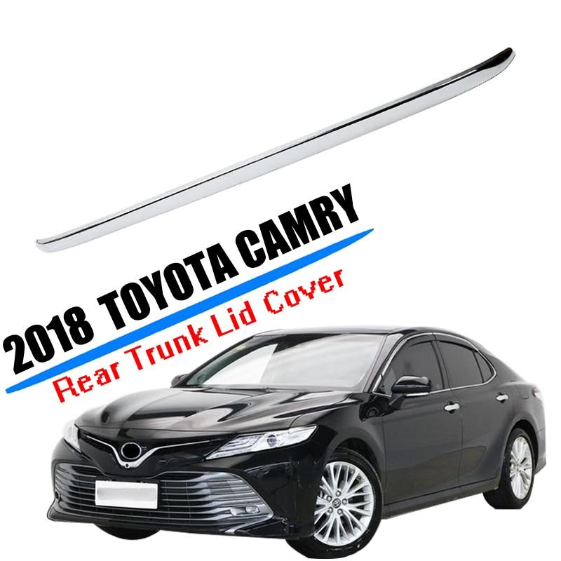 Rear Bumper Chrome Trim Rear Guard Bumper Strip High-qual For Toyota Camry 2018 2019 Accessories