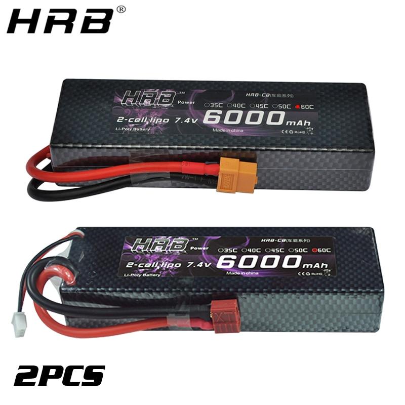 HRB 2S 7.4V 5200mAh 50C Hardcase Lipo