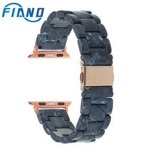 Модные часы с имитацией керамики, ремешок из полимерного материала для Apple, наручные часы, 38/40/42/44 мм, аксессуары для наручных часов