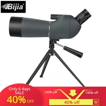 BIJIA 20-60x60 spoting scope bird watching monocular BAK4 prism waterproof HD zoom telescope with tripod стоимость