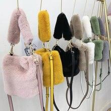 Женская модная милая сумка ведро из искусственного меха сумки